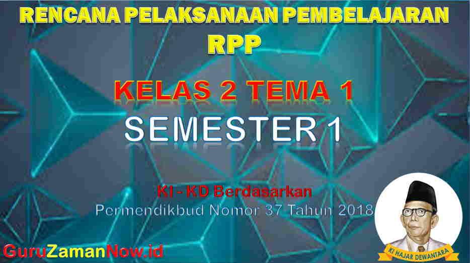 RPP Kelas 2 Semester 1 Tema 1