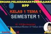 RPP Kelas 1 Semester 1 Tema 1