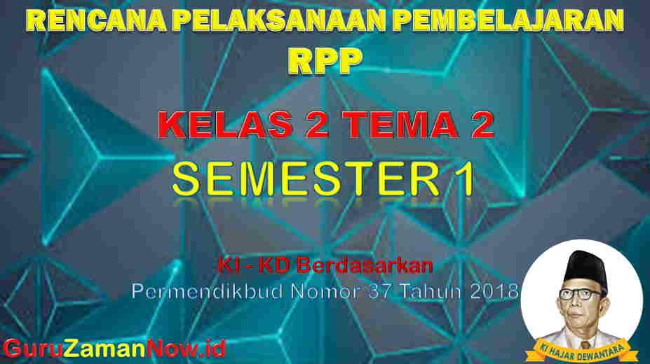RPP Kelas 2 Semester 1 Tema 2