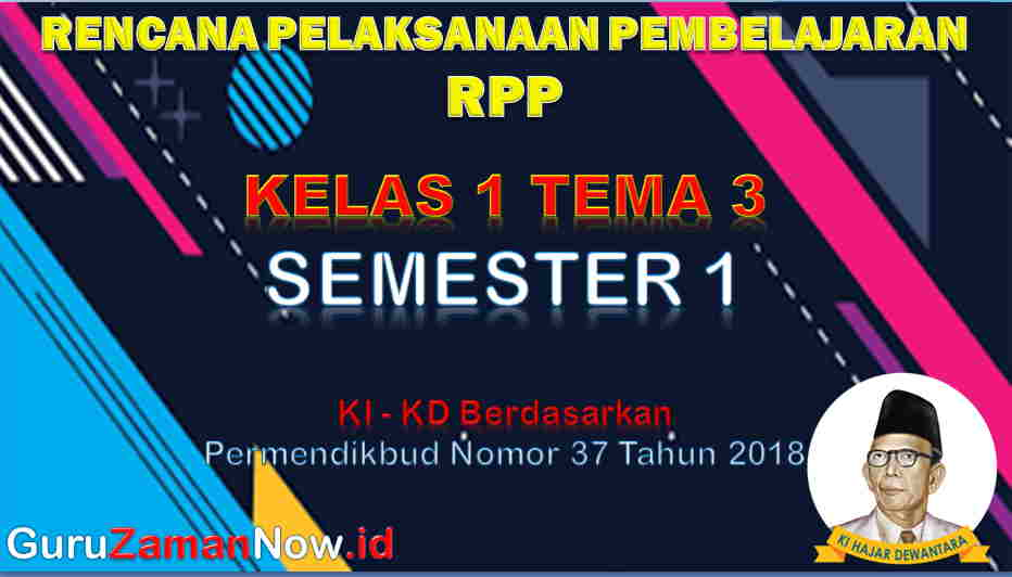 RPP Kelas 1 Semester 1 Tema 3