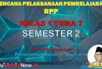RPP Kelas 1 Semester 2 Tema 7