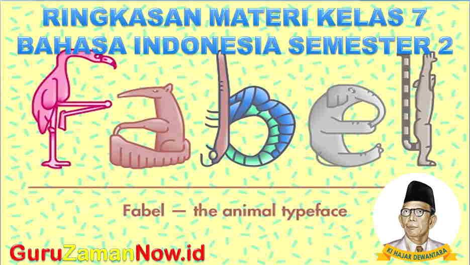 Materi Bahasa Indonesia Kelas 7 Semester 2