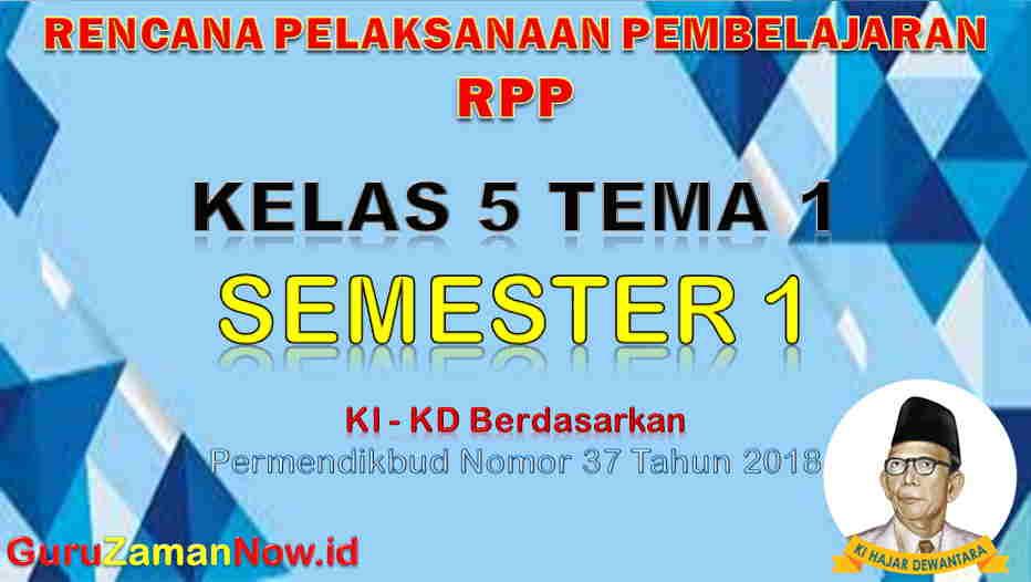 RPP Kelas 5 Semester 1 Tema 1