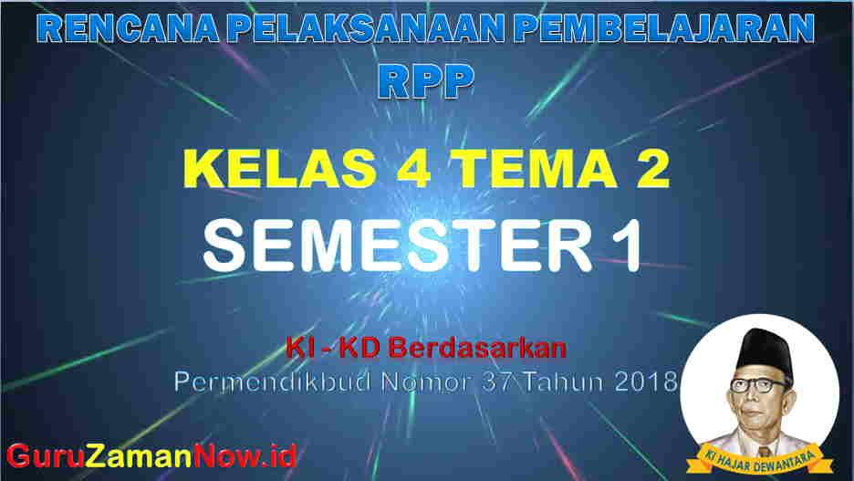 RPP Kelas 4 Semester 1 Tema 2