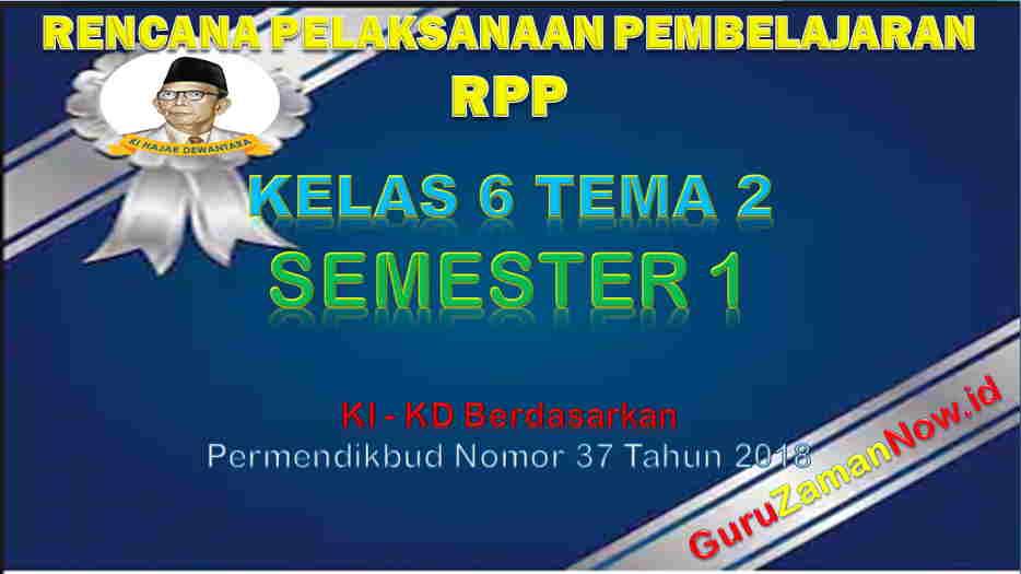 RPP Kelas 6 Semester 1 Tema 2