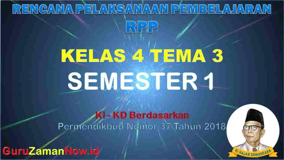 RPP Kelas 4 Semester 1 Tema 3