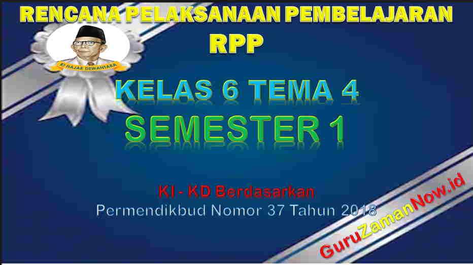 RPP Kelas 6 Semester 1 Tema 4
