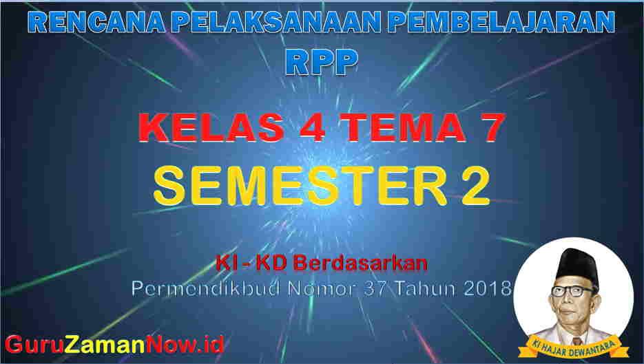 RPP Kelas 4 Semester 2 Tema 7