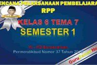 RPP Kelas 6 Semester 2 Tema 7