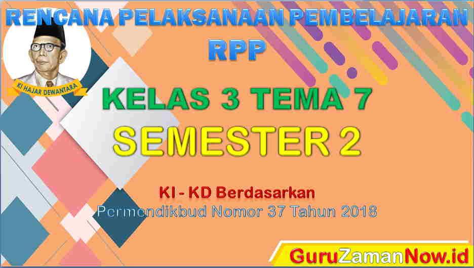 RPP Kelas 3 Semester 2 Tema 7
