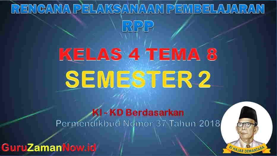 RPP Kelas 4 Semester 2 Tema 8