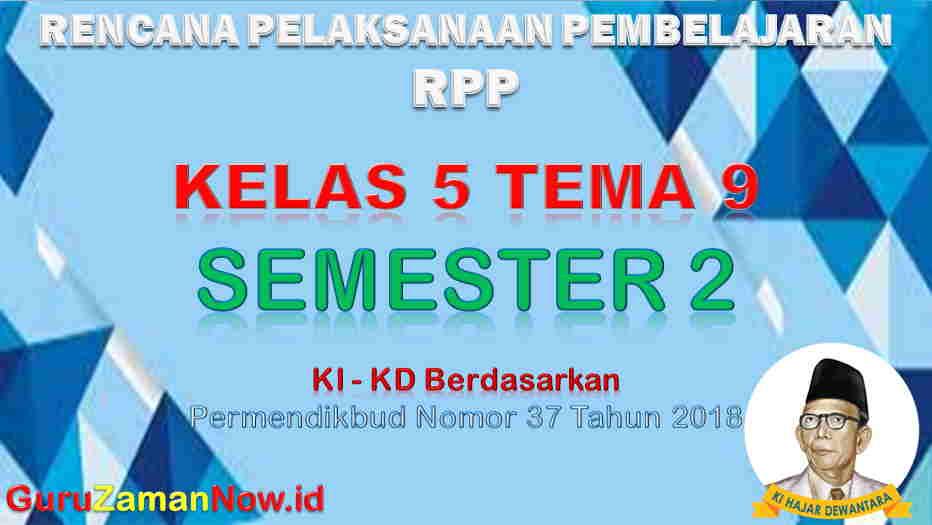 RPP Kelas 5 Semester 2 Tema 9