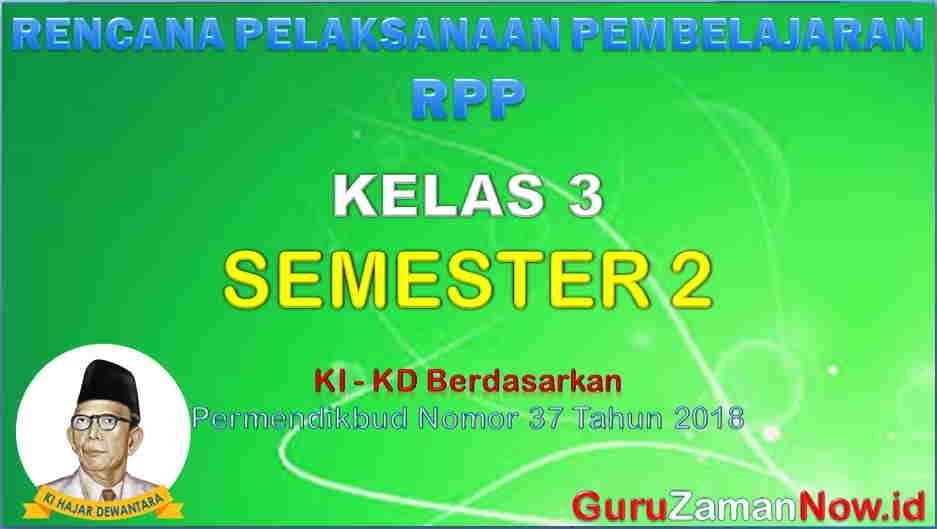 RPP Kelas 3 Semester 2