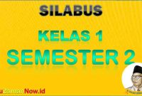 silabus K13 Kelas 1 semester 2