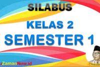 Silabus K13 Kelas 2 Semester 1