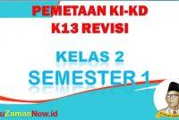 Pemetaan K13 kelas 2 semester 1