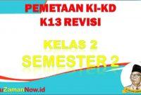 Pemetaan K13 kelas 2 semester 2