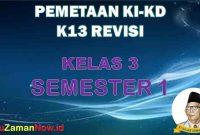 pemetaan K13 Kelas III semester 1