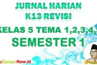 Jurnal Pembelajaran Kelas V semester 1
