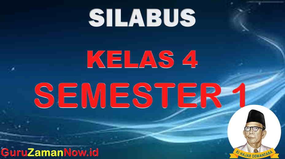 silabus k13 kelas IV semester 1