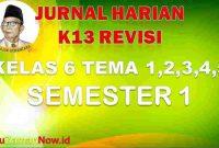 jurnal pembelajaran kelas VI semester 1