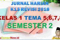 Jurnal Pembelajaran Kelas 1 semester 2