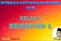 KKM SD Kelas 1 Semester 1