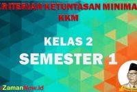 KKM Kelas 2 SD/MI
