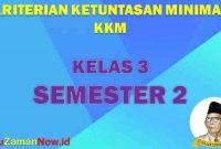 KKM SD Kelas 3