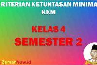 KKM SD Kelas 4 Semester 2