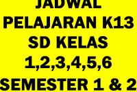 Jadwal Pelajaran K13