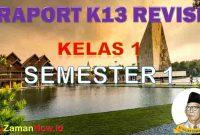 Aplikasi Raport Kelas 1 Semestrer 1
