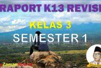 Raport Kelas 3 Semester 1