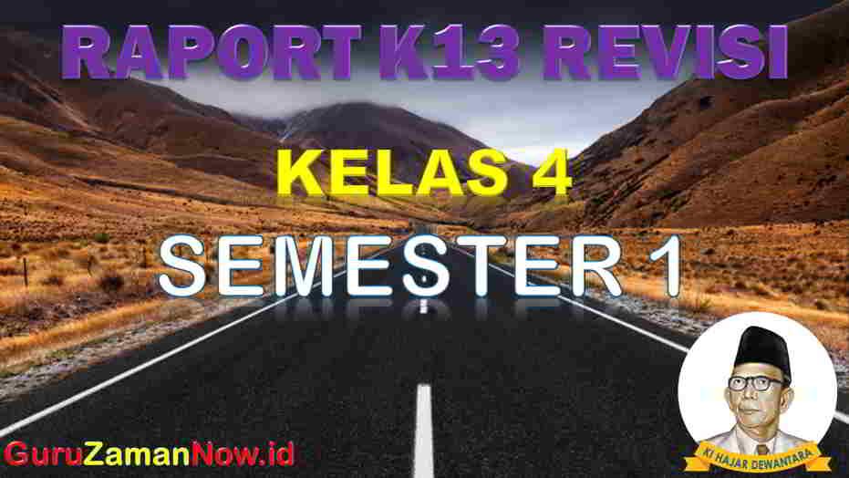 Raport Kelas 4 Semester 1