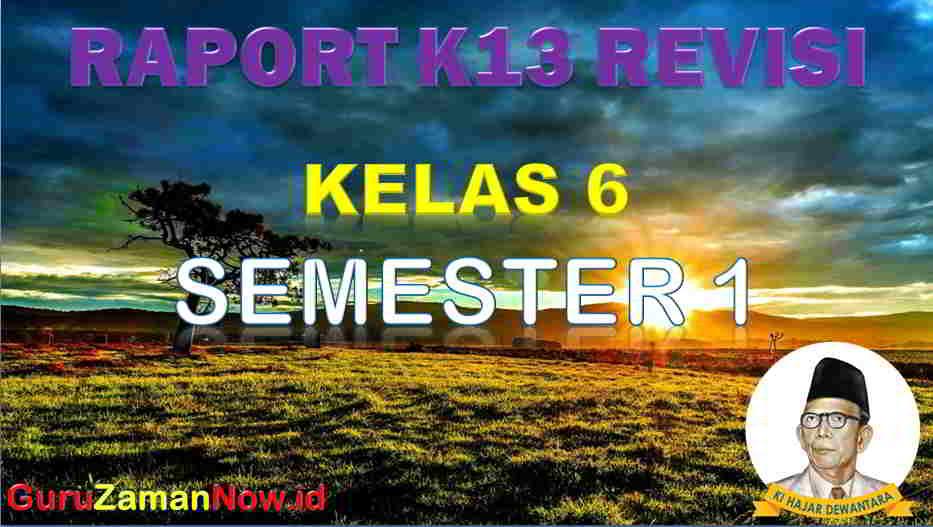 Raport Kelas 6 Semester 1
