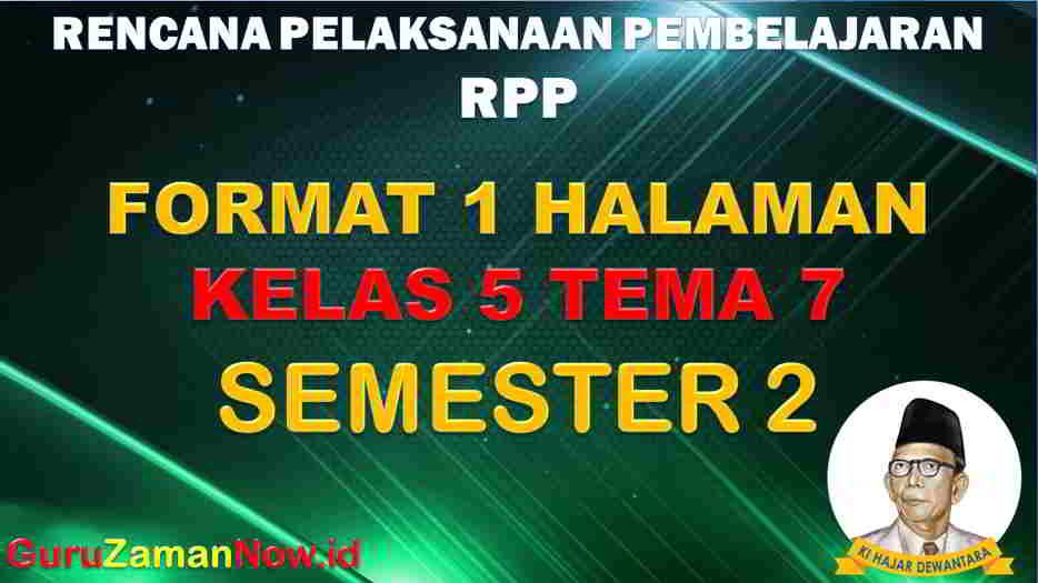 RPP 1 Lembar SD Kelas 5 Tema 7