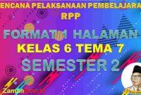 RPP 1 Lembar SD Kelas 6 Tema 7