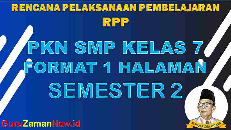 RPP 1 Lembar PKN Kelas 7 Semester 2 Revisi 2020