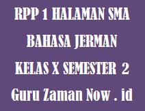 RPP 1 Lembar Bahasa Jerman Kelas 10 Semester 2