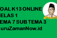 Soal Kelas 1 Tema 7 Subtema 3 Tugas Online