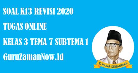 Soal Kelas 3 Tema 7 Subtema 1 Tugas Online