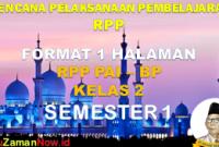 Silabus dan RPP PAI 1 Lembar Kelas 2 Semester 1
