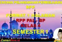 RPP PAI 1 Lembar Kelas 4 Semester 1