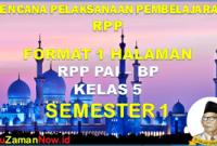 RPP PAI 1 Lembar Kelas 5 Semester 1