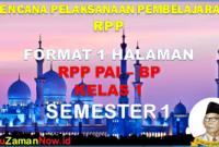 Silabus dan RPP PAI 1 Lembar Kelas 1 Semester 1