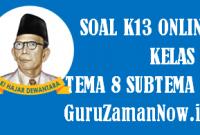 Soal Kelas 2 Tema 8 Subtema 2 Tugas Online
