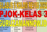Silabus 9 (Sembilan) Kolom PJOK Kelas 3 Revisi 2020