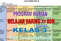 Program Harian Pembelajaran Jarak Jauh Daring dan Luring Kelas 3