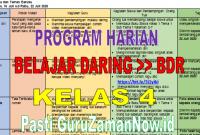 Program Harian Pembelajaran Jarak Jauh Daring dan Luring Kelas 4