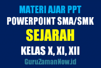 Download Media Ajar PowerPoint (PPT) Sejarah SMA Kelas 10,11 dan 12